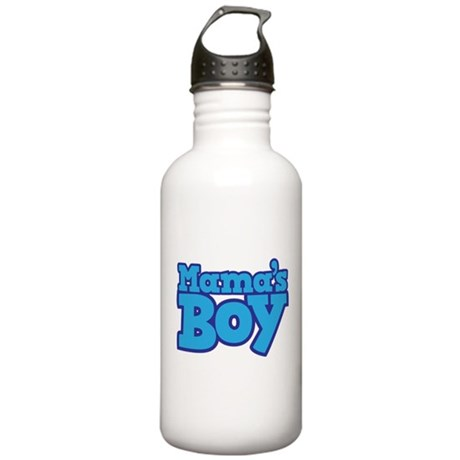 Mama's Boy T-shirt Design Stainless Water Bottle 1