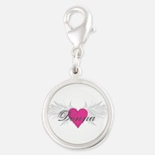 My Sweet Angel Donna Silver Round Charm