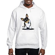 KiniArt Tricolor Corgi Hoodie Sweatshirt
