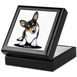 Corgi Square Keepsake Boxes