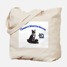 I support Blind Cat Rescue Tote Bag