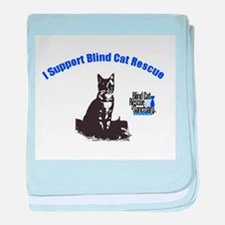 I support Blind Cat Rescue baby blanket