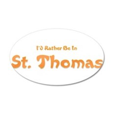 Id Rather Be...St. Thomas.png Wall Decal