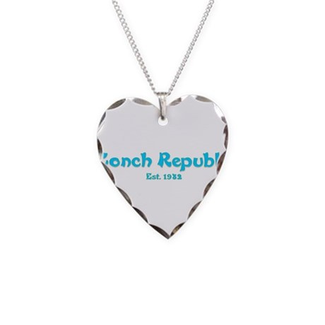 Conch Republic.png Necklace Heart Charm
