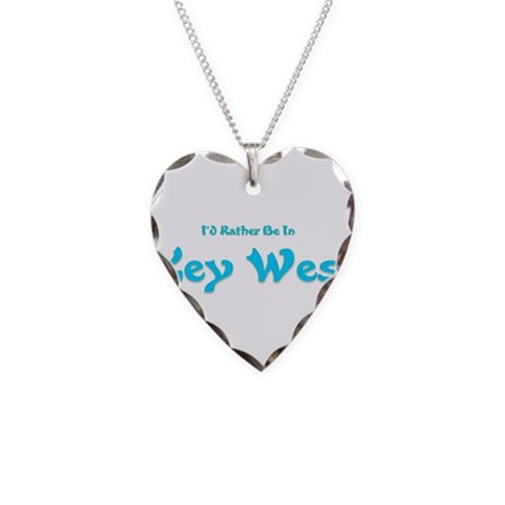 Id Rather Be In Key West.png Necklace Heart Charm