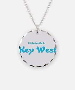 Id Rather Be In Key West.png Necklace
