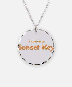 Id Rather Be...Sunset Key.png Necklace