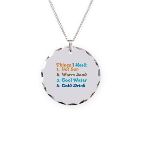 Things I Need.png Necklace Circle Charm