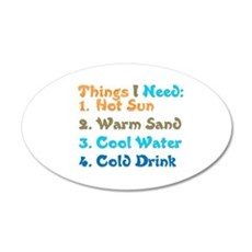 Things I Need.png Wall Decal