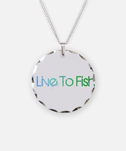 I Live To Fish.png Necklace