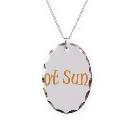 Got Sun.png Necklace Oval Charm