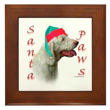 Santa Paws Spinone Italiano Framed Tile