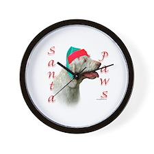 Santa Paws Spinone Italiano  Wall Clock