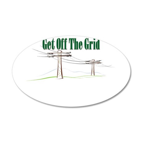 Get Off The Grid.png 35x21 Oval Wall Decal