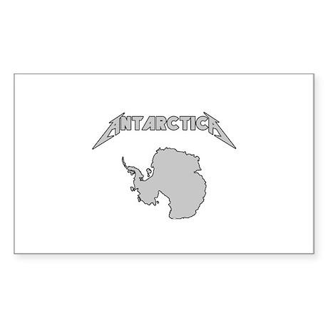 Antarctica - Metalllica Sticker (Rectangle)