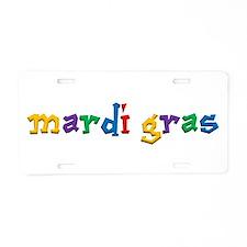 Mardi Gras.png Aluminum License Plate