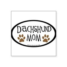 Dachshund Mom Oval (inner border) Oval Sticker