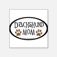 Dachshund Mom Oval (inner border) Oval Sticker