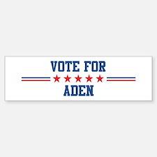 Vote for ADEN Bumper Bumper Bumper Sticker