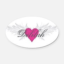My Sweet Angel Delilah Oval Car Magnet