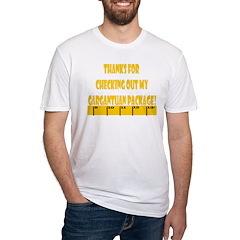 Ruler Gargantuan Pack. Yellow Fitted T-Shirt