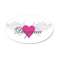 My Sweet Angel Dayana Oval Car Magnet