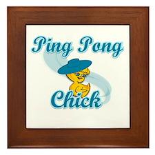 Ping Pong Chick #3 Framed Tile