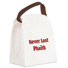 Never Lost Phaith.png Canvas Lunch Bag