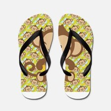 Cute Cartoon Monkey Flip Flops