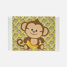 Cute Cartoon Monkey Rectangle Magnet (10 pack)