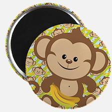 "Cute Cartoon Monkey 2.25"" Magnet (10 pack)"
