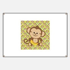 Cute Cartoon Monkey Banner