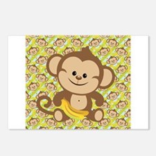 Cute Cartoon Monkey Postcards (Package of 8)