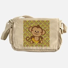 Cute Cartoon Monkey Messenger Bag