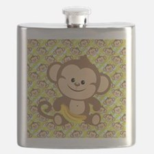 Cute Cartoon Monkey Flask