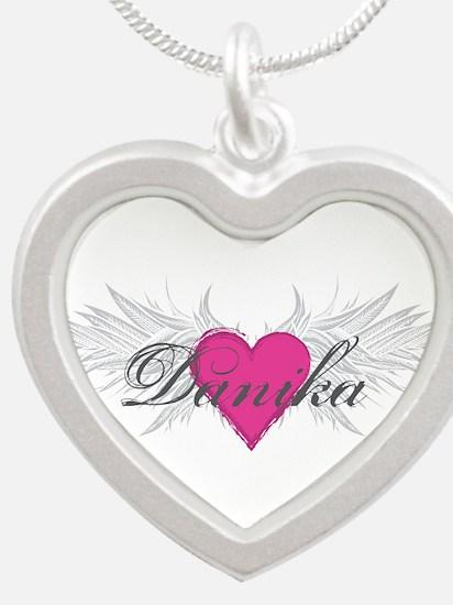 My Sweet Angel Danika Silver Heart Necklace