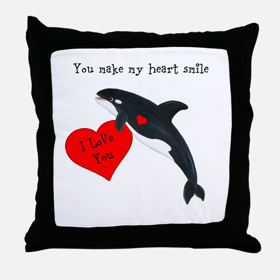 Personalized Whale Throw Pillow