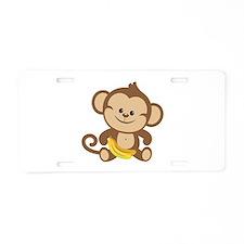 Cute Cartoon Monkey Aluminum License Plate