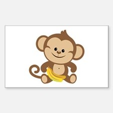 Cute Cartoon Monkey Decal