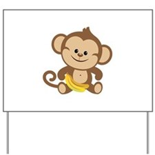 Cute Cartoon Monkey Yard Sign