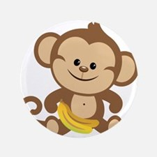 "Cute Cartoon Monkey 3.5"" Button (100 pack)"