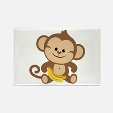Cute Cartoon Monkey Rectangle Magnet (100 pack)