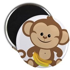 Cute Cartoon Monkey Magnet