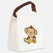 Cute Cartoon Monkey Canvas Lunch Bag