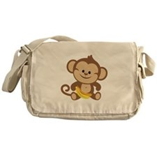 Cute Cartoon Monkey Messenger Bag