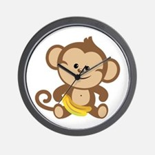 Cute Cartoon Monkey Wall Clock