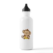 Cute Cartoon Monkey Sports Water Bottle