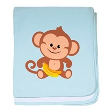 Cute Cartoon Monkey baby blanket