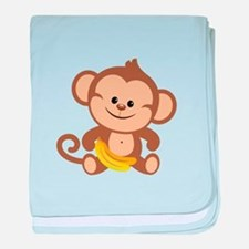 Cute Cartoon Monkey baby blanket