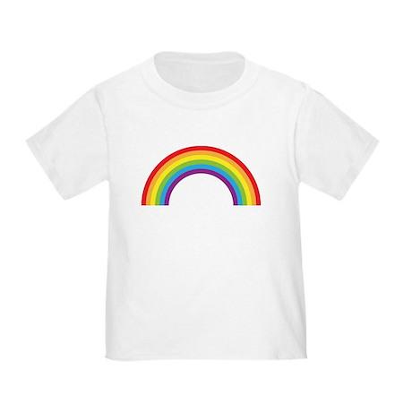 Cool retro graphic rainbow design Toddler T-Shirt